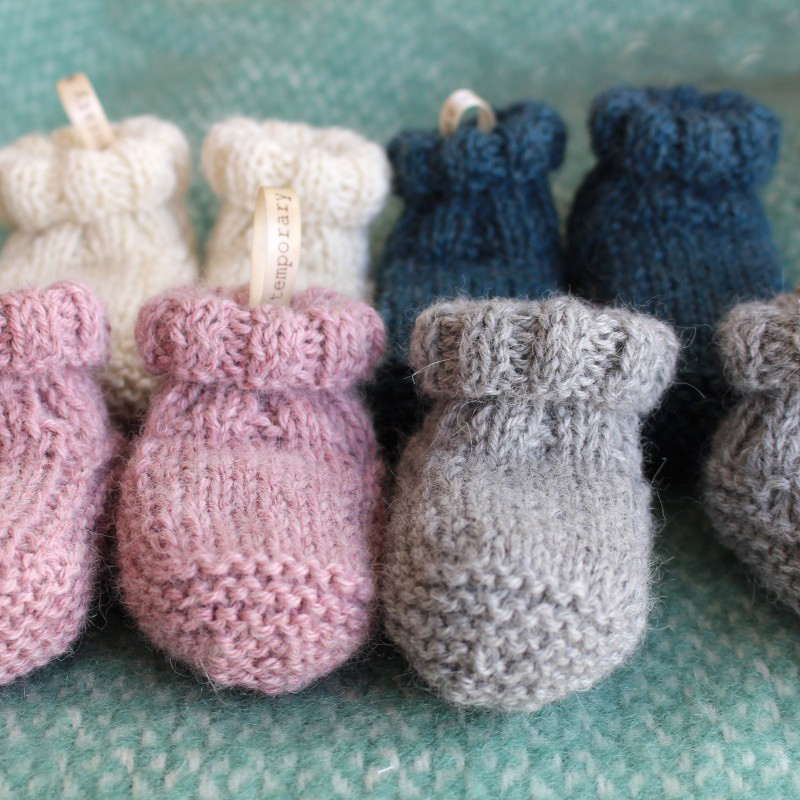6344dd483443d Hand Knitted Baby Alpaca Sock Slippers
